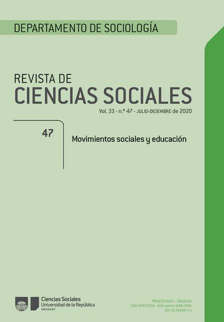 Revista de Ciencias Sociales - Movimientos sociales y educación